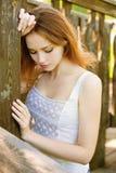 Chica joven triste Imágenes de archivo libres de regalías