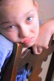 Chica joven triste Foto de archivo libre de regalías
