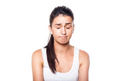 Chica joven triste e infeliz Fotos de archivo libres de regalías