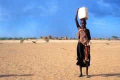 Chica joven Turkana (Kenia) Fotos de archivo