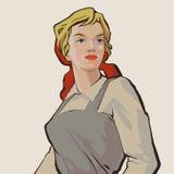 Chica trabajadora stock de ilustración