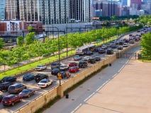 Chicago湖岸推进业务量 免版税库存照片
