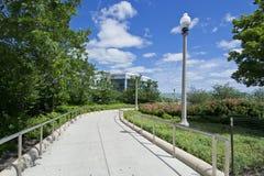 Chicago湖步行 库存照片