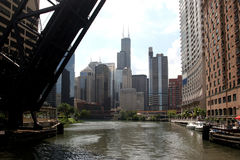 Chicago – view from riverboat. Chicago downtown seen from a riverboat. Canon 20D Stock Photo