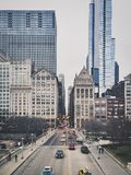 chicago śródmieścia drapacz chmur Zdjęcia Royalty Free