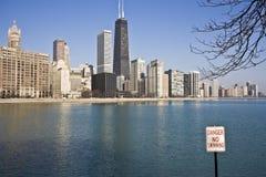 chicago отсутствие заплывания Стоковая Фотография