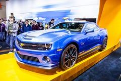 CHICAGO - 16 FEBRUARI: Chevrolet Camaro SS op vertoning bij 2013 Royalty-vrije Stock Fotografie