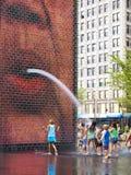 Chicago - 24 août 2010 : Fontaine de tête Photo libre de droits