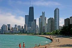 Chicago 3 linia horyzontu Obrazy Stock