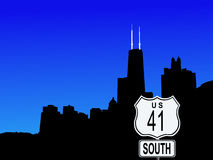 Chicago 41 autostrady znak Obrazy Royalty Free