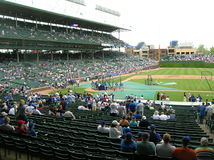 Chicago. Batting practice at Wrigley Field Stock Photo