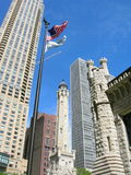 Chicago. View along Michigan Avenue including the Water Tower royalty free stock photo
