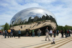 Chicago. The Cloud Gate (Bean) at Millennium Park Royalty Free Stock Photography