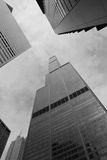 Chicago. Downtown architecture including the Sears Tower Stock Photo