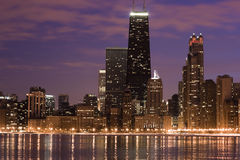 Chicago across the lake Royalty Free Stock Photo