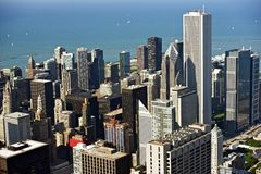 Chicago Aerial Photo Royalty Free Stock Image