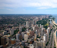 Chicago Aerial View Royalty Free Stock Images