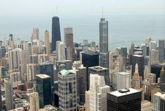 Chicago Aerial View. Downtown Chicago Aerial View in Illinois, USA royalty free stock photo