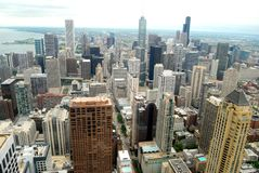 Chicago Aerial View. High Rise Buildings in Chicago, Illinois USA royalty free stock photos