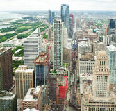 Chicago. Aerial view of Chicago downtown. Stock Images