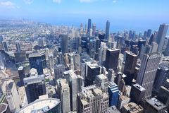 Chicago aerial view Stock Image