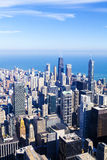 Chicago aerial view Royalty Free Stock Image