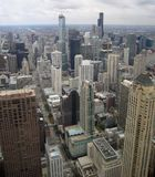 Chicago aerial view Stock Images