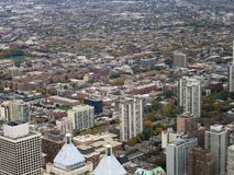 Chicago aerial view Royalty Free Stock Photo