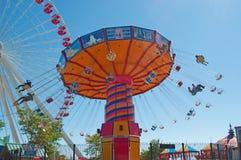 Chicago: agite el libertino y a Ferris Wheel en el embarcadero de la marina de guerra el 22 de septiembre de 2014 imagen de archivo
