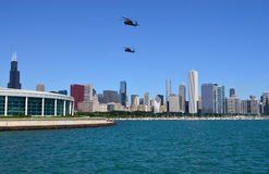 Chicago air and water show. May be used as an ad for the chicago air show Royalty Free Stock Images
