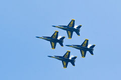 Chicago Air and Water Show, US Navy Blue Angels Royalty Free Stock Photos