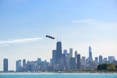 Chicago Air and Water Show, US Navy Blue Angels Stock Photography