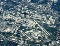 Chicago airport. Chicago O'Hare airport stock photography