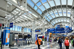 Chicago airport interior Royalty Free Stock Photo