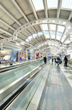 Chicago airport terminal interior view Royalty Free Stock Image