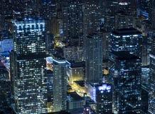 Chicago alla notte da Willis Tower Fotografia Stock Libera da Diritti