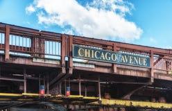 Chicago-Alleen-Brücke Lizenzfreies Stockfoto