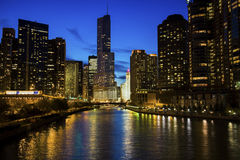 Chicago along the river Royalty Free Stock Image