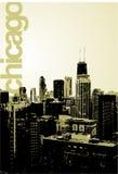 Chicago - alternatieve horizon stock illustratie