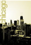 Chicago - alternative skyline. An alternative, fresh view of the famous skyline, facing North. No transparencies in the file. The word Chicago is in a separate Stock Image