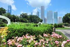 chicago anslags- park arkivbild