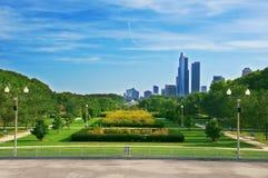 chicago anslags- parksikt Arkivbild