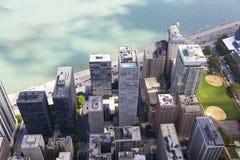 Chicago drev för Lakekust Arkivfoton