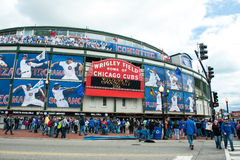 Chicago Cubs 2013 home opener Royalty Free Stock Photography