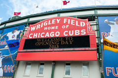 Chicago Cubs 2013 home opener Royalty Free Stock Photo