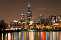 Chicago neemt aan Autisme deel spreekt Licht het omhoog Blauwe campagne Stock Afbeelding