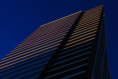 Chicago Architect at Dusk. A modern building in downtown Chicagow against the late evening sky Stock Image