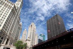 Chicago arkitektur arkivfoto