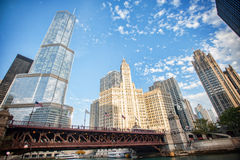 Chicago attracts us with its beautiful buildings Royalty Free Stock Images
