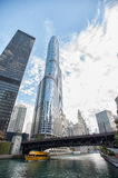 Chicago attracts us with its beautiful buildings Stock Photo
